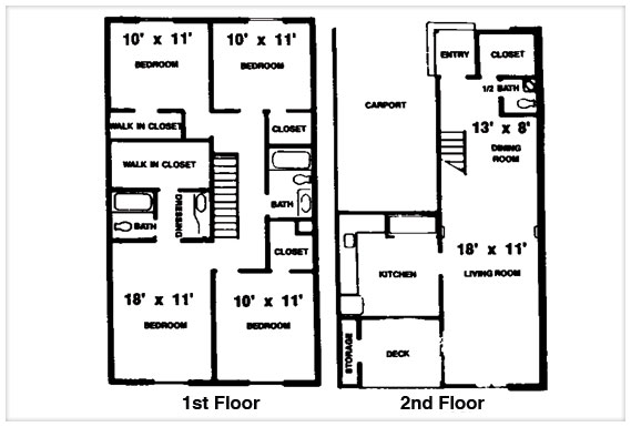 Brookwood terrace apartments in gainesville minutes from uf and santa fe - Terras appartement lay outs ...